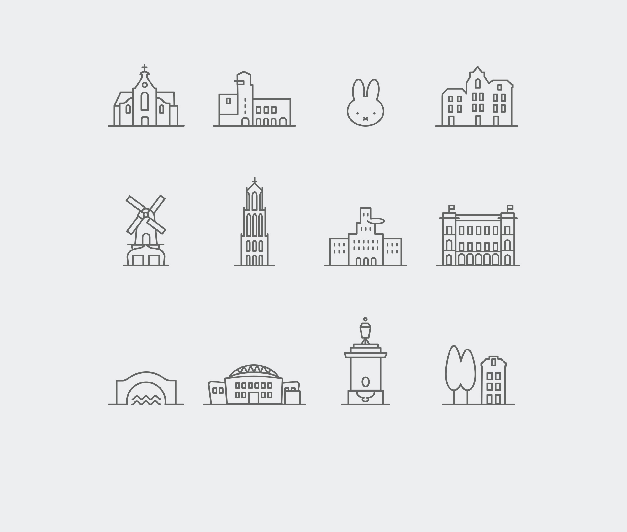 Meeting Rooms Icon Grid